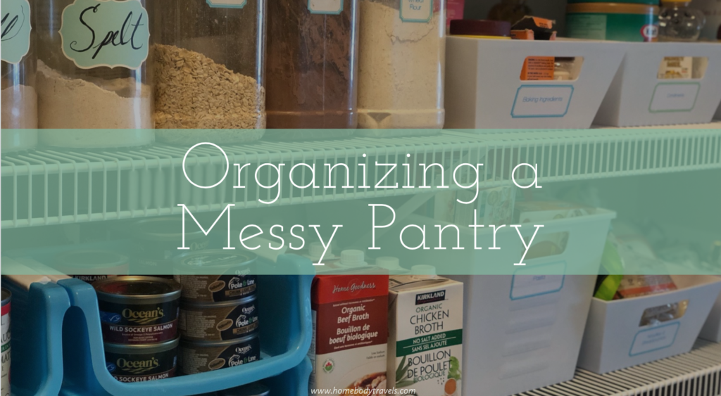 Organizing a Messy Pantry